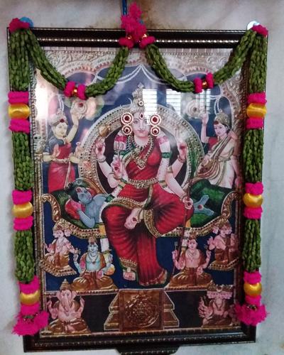 Garlands to Hindu Gods